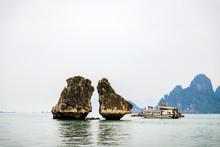 Kissing Rocks A Glory Symbol Of Ha Long Bay, Vietnam, 2019