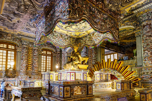 It is a staircase tomb of Emperor Caydin of Vietnam, which boasts elaborate architectural style and gorgeous details Wallpaper Mural