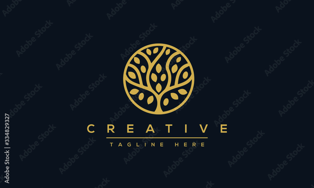 Fototapeta Tree vector icon. Nature trees vector illustration logo design.