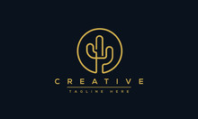 Cactus Logo Design Vector Illustrations With Creative Concept.
