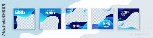 Fotografía Liquid abstract banner design
