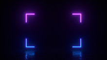 Glowing Rectangle Square Lines...
