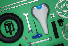 Set Of Different Bicycle Tools...
