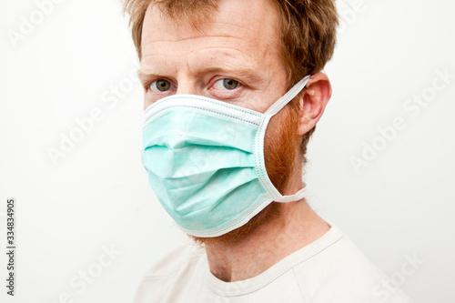 Leinwand Poster gestes barrière je mets une masque