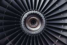 Detail Of Airplane Jet Engine