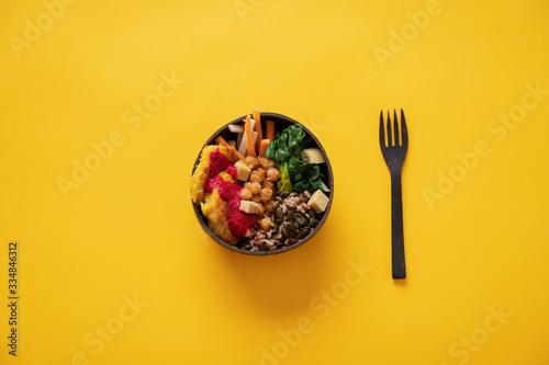Nutritious vegan meal Billede på lærred