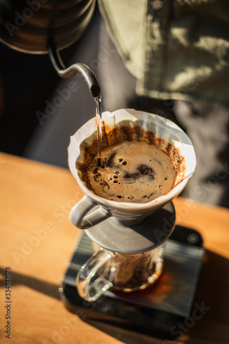 Photo Making Arabica coffee using an alternative method of pour over
