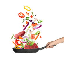 Woman Holding Nonstick Frying ...