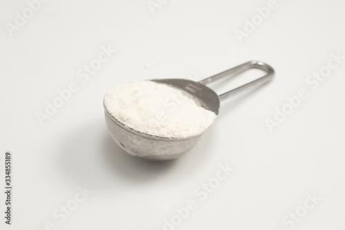 Fotografia, Obraz Tablespoon of wheat flour