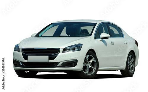 Fototapeta white car on white background obraz