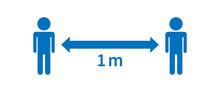 Keep Safe Distance  Vector Illustration For Sign, Websites, Infographics