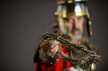 Roman Soldier Holding A Crown ...