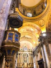 Interior Of Breathtaking Metropolitan Cathedral Of Buenos Aires
