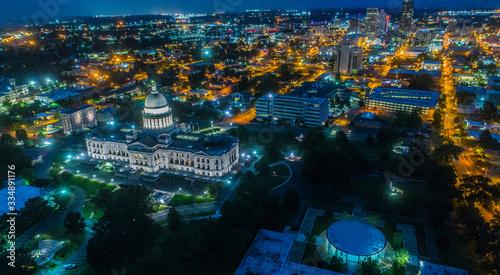 Photo ARKANSAS STATE CAPITOL BUILDING NIGHT CITY LIGHTS