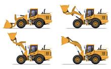 Set Of Construction Machines, Wheel Loader