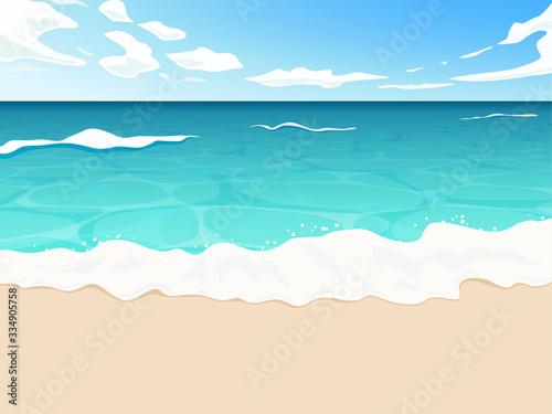 Canvas Print 透明感のある海と空の背景1