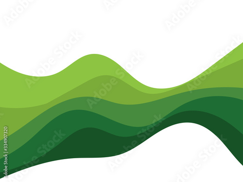 Obraz Abstract Green wave vector design background - fototapety do salonu