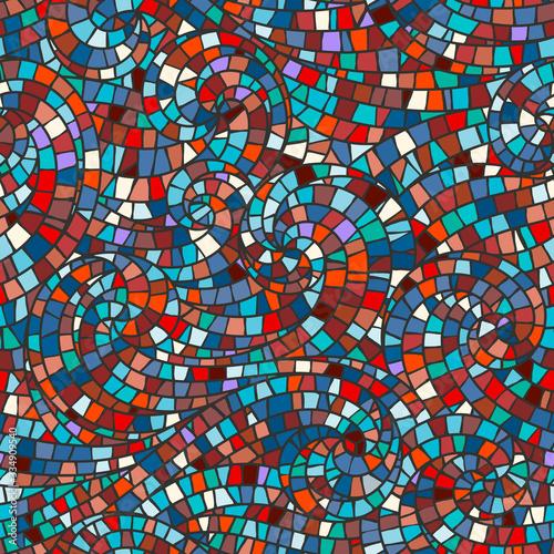 Naklejki na szyby  mosaic-seamless-background