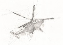 Helicopter Drawing Illustratio...