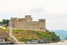 Ruins Of Old Turkish Fortress Ram By The River Danube In Serbia.