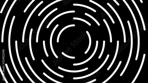 Tapety Geometryczne  okragla-biala-linia-wirowa-pekla-na-czarnym-tle-wirowa-okragla-linia-artystyczna-spiralny-ksztalt-cykl