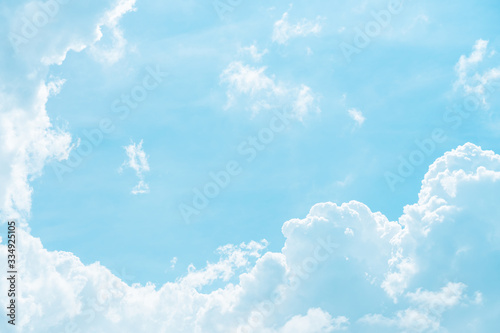 Vászonkép Blue sky and white clouds abstract background.