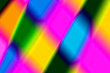 canvas print picture - The abstract background or texture of rainbow zigzags, squares, rhombs. Handmade illustration or picture in red, ornage, yellow, green, blue and purple colores