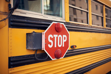 Side View Of A School Bus And ...
