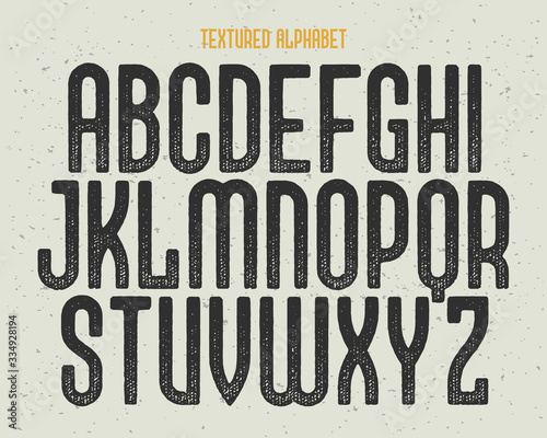 Vintage typeface with dirty textured effect Fototapet