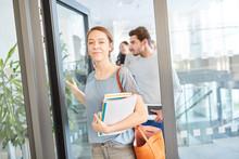 Woman As Freshmen Student In The Uni