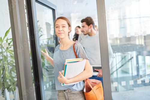 Fotografie, Obraz Woman as freshmen student in the uni