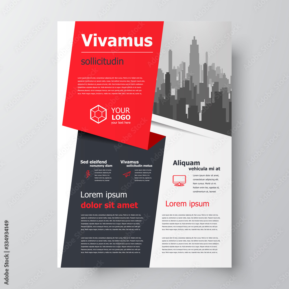 Fototapeta Flyer brochure design, business flyer size A4 template, creative leaflet