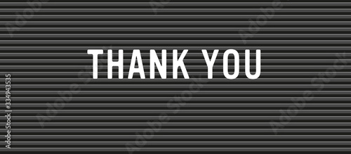 thank you note on message board Wallpaper Mural