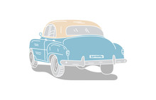 Classic Car On White Backgroun...