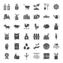 Farming Solid Web Icons