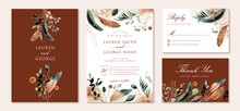 Wedding Invitation Set With Ru...