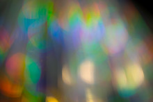 Multicolored Rainbow Large Bokeh Effect Background