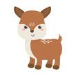 cute little deer animal cartoon isolated icon design