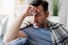 Ill Man With A Hard Flu