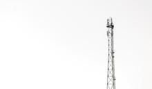 Radio Antenna Isolated On White Background