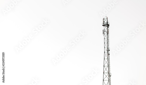 radio antenna isolated on white background Canvas Print