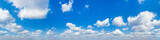 Fototapeta Na sufit - Panorama Blue sky and white clouds. Bfluffy cloud in the blue sky background