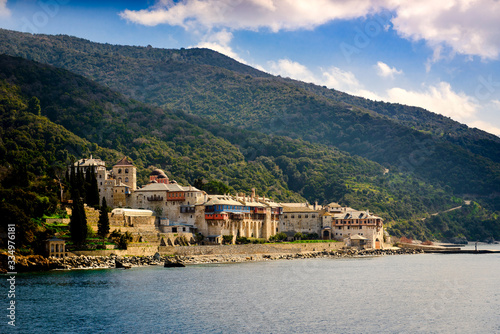 Monastery in Mount Athos Greece Wallpaper Mural