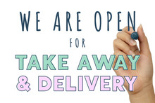 Open For Take Away And Food De...