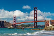 Golden Gate Bridge At Sunset, ...