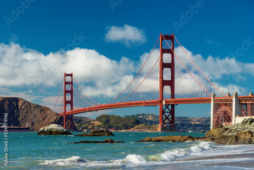 Golden Gate Bridge at sunset, San Francisco, California. Canvas Print