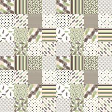 Seamless Pattern Patchwork Nat...