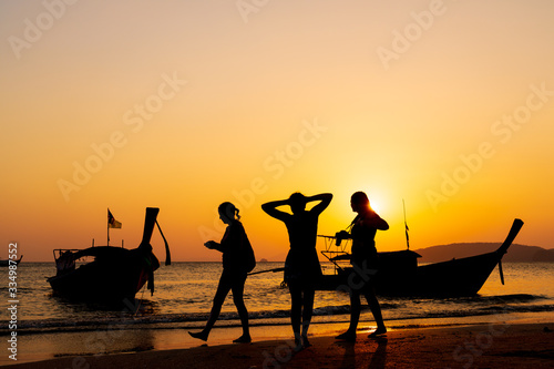 Fototapety, obrazy: Sunset in Ao Nang Krabi province