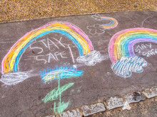 Stay Safe Chalk Drawing Words ...