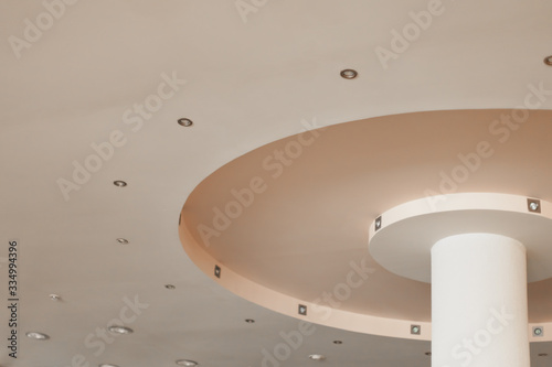 Beautiful ceiling with LED lighting.